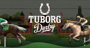 Tuborg Derby arcade game banner